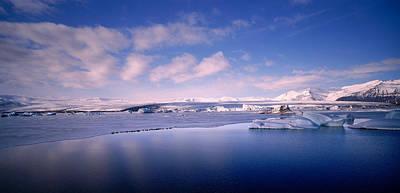 Glacier Floating On Water, Jokulsarlon Art Print by Panoramic Images