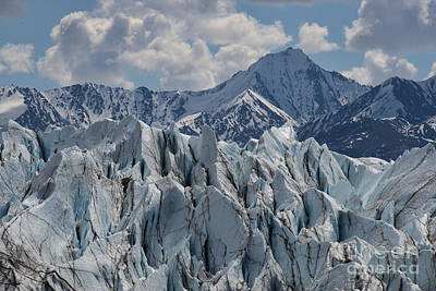 Photograph - Glacier Formations And Mountain by David Arment