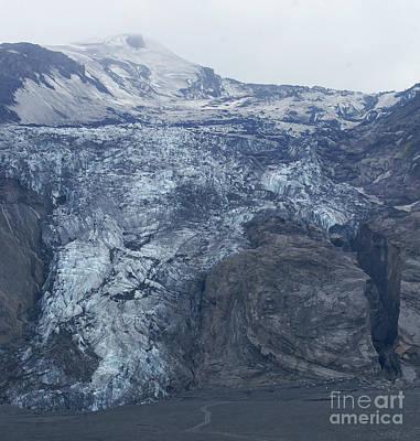 Photograph - glacier at Eyjafjallajoekull Iceland by Rudi Prott