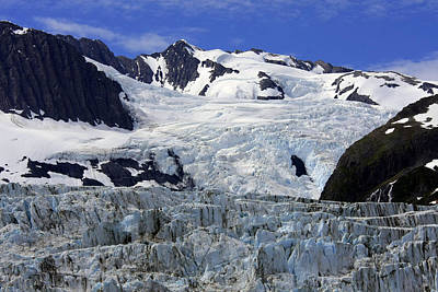 Glacier From Up High Art Print
