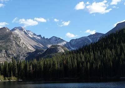 Rocky Digital Art - Glacier Gorge Bear Lake by Georgia Fowler