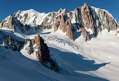 Tour Du Mont Blanc Wall Art - Photograph - Glacier, Gran Capucin, Mont Blanc Du by Damiano Levati