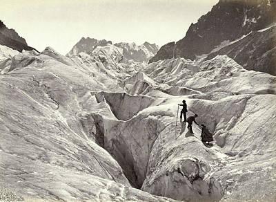 Switzerland Drawing - Glacier In Switzerland, William England, Son & Co Marion by Artokoloro