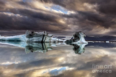 Art Print featuring the photograph Glacier In Water by Gunnar Orn Arnason
