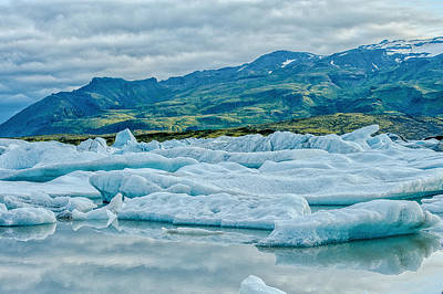 Photograph - Glacier Lagoon  by Greg Wyatt