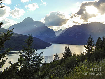 Photograph - Glacier Lake With Clouds by Patricia  Tierney