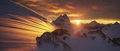 New Zealand Photograph - Glacier Light by Yan Zhang