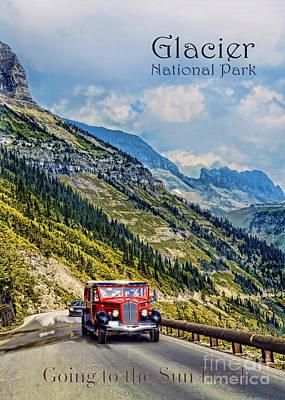 Glacier National Park Art Print by Jill Battaglia