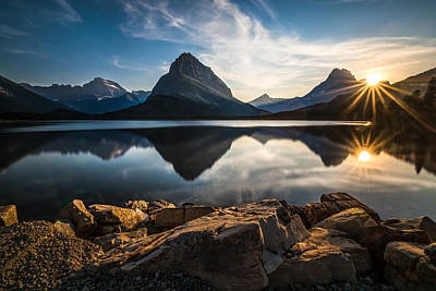 Sun Photograph - Glacier National Park by Larry Marshall