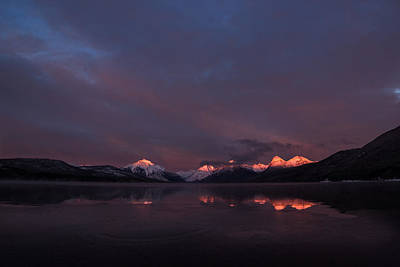 Mcdonalds Photograph - Alpen Glow // Lake Mcdonald, Glacier National Park by Nicholas Parker