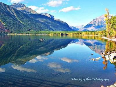 Photograph - Glacier Park Magic by Deahn      Benware