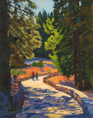Glacier Point Walk Art Print