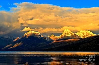 West Glacier Photograph - Glacier Snow Caps by Adam Jewell