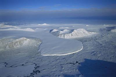 Glacier Spilling Into The Ross Sea Art Print