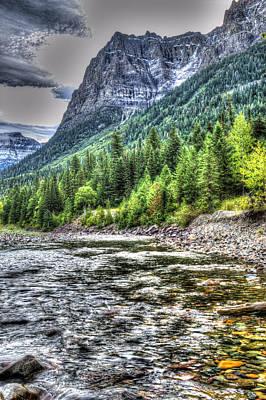 Apgar Photograph - Glacier Stream by Mark Bowmer