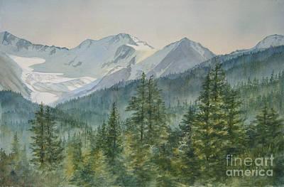 Glacier Alaska Painting - Glacier Valley Morning Sky by Sharon Freeman