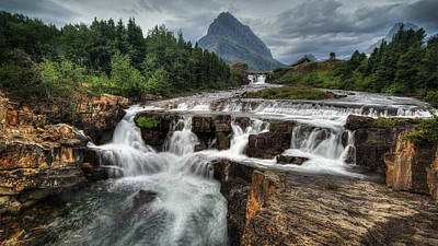 Photograph - Glacier Waterfall by Jaki Miller