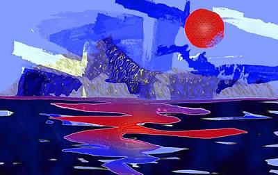 Digital Art - Glacier4 by Mimo Krouzian