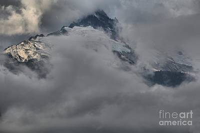 Photograph - Glaciers And Peaks Through The Clouds by Adam Jewell
