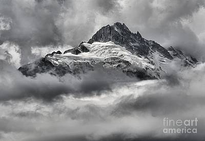 Photograph - Glaciers Clouds And Coastal Mountain Peaks by Adam Jewell