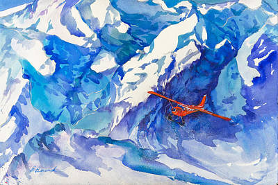 Wall Art - Painting - Glaciers With Stories To Tell by Beverly Berwick