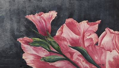 Gladiolas Painting - Glad To Be Alive by Cathy Long
