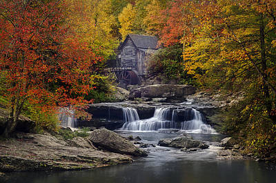 Glade Creek Grist Mill 2 Art Print by Michael Donahue