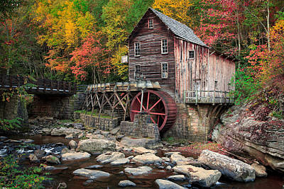 Photograph - Glade Creek Grist Mill 3  by Emmanuel Panagiotakis