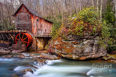 Glade Creek Grist Mill Art Print by Anthony Heflin