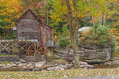Photograph - Glade Creek Grist Mill At Babcock State Park In Wv by Willie Harper