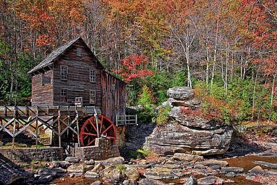 Water Mill Photograph - Glade Creek Grist Mill Babcock by Marcia Colelli