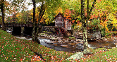 Glade Creek Grist Mill, Babcock State Art Print by Panoramic Images