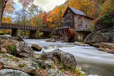 Photograph - Glade Creek Grist Mill-babcock State Park West Virginia by Dick Wood