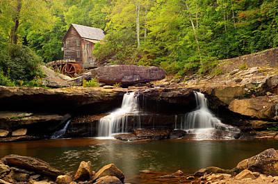 Photograph - Glade Creek Grist Mill - Cooper's Mill by Gregory Ballos
