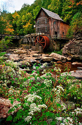Fall Photograph - Glade Creek Grist Mill D300_12196 by Kevin Funk