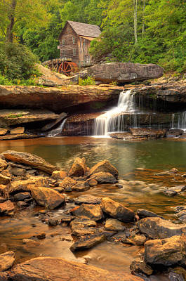 Photograph - Glade Creek Grist Mill - Layland West Virginia  by Gregory Ballos
