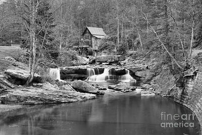 Photograph - Glade Creek Grist Mill In Black And White by Adam Jewell