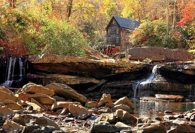 Water Mill Photograph - Glade Creek Grist Mill by Marcia Colelli
