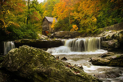 Glade Creek Grist Mill Art Print by Shane Holsclaw