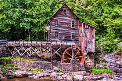 Glade Creek Grist Mill Art Print by Steve Harrington