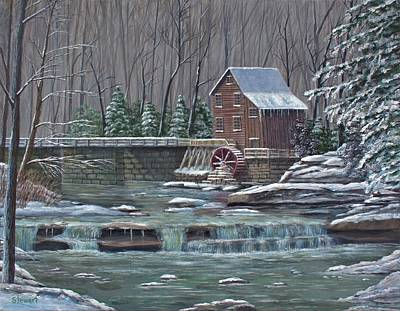 Painting - Glade Creek Grist Mill by William Stewart