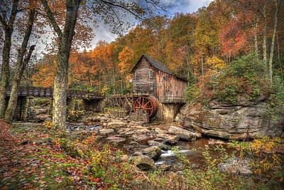 Glade Creek Gristmill Art Print