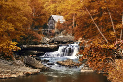 Waterfall Photograph - Glade Creek Mill Selective Focus by Tom Mc Nemar