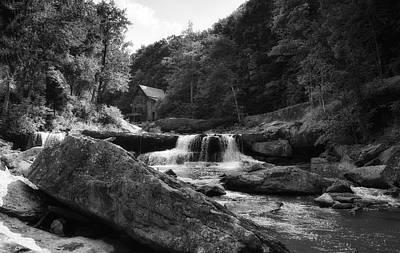 Glade Creek Waterfall Art Print by Shelly Gunderson