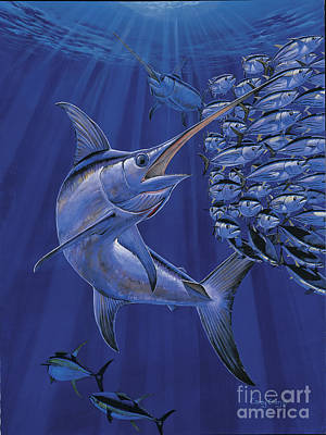 Striped Marlin Painting - Gladiator Off0080 by Carey Chen