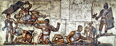 Gladiator Painting - Gladiators by Granger