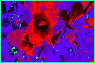 Abstract Digital Digital Art - Gladiola Abstract by Will Borden