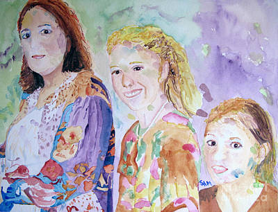 Painting - Gladiola Girls 2 by Sandy McIntire