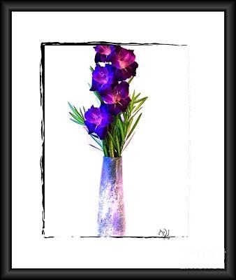 Gladiolas Digital Art - Gladiola Gorgeous by Marsha Heiken