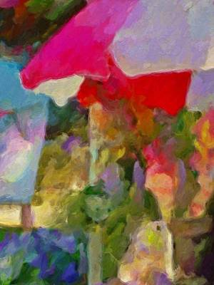 Sunshade Painting - Gladiolas For Sale Roadside - Vertical by Lyn Voytershark